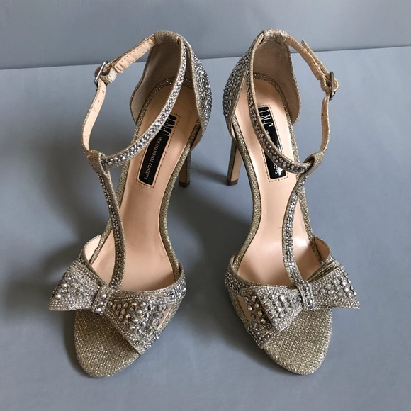 INC International Concepts Shoes - I•N•C Silver Rhinestone Heels